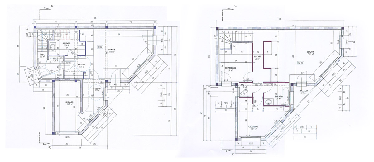 Plan de maison artech constructions for Plan interieur maison en l