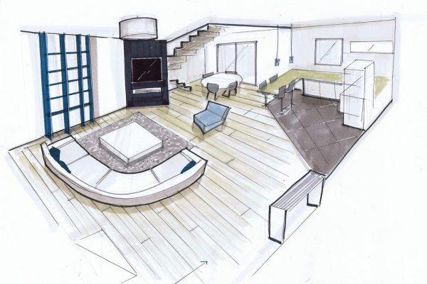 perspective plan de maison